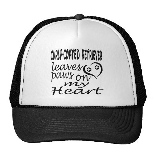 Curly-Coated Retriever Dog Leaves Paw On My Heart Mesh Hat