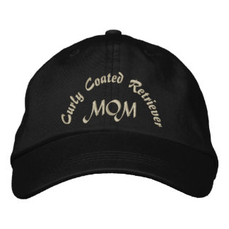 Curly Coated Retriever Mom Gifts. Embroidered Baseball Cap