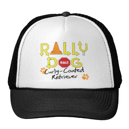 Curly-Coated Retriever Rally Dog Mesh Hat