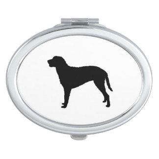 Curly Coated Retriever Silhouette Love Dogs Makeup Mirror