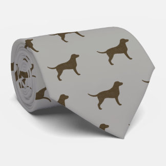 Curly Coated Retriever Silhouettes Pattern Tie