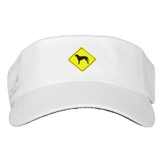Curly Coated Retriever Warning Sign Love Dogs Visor