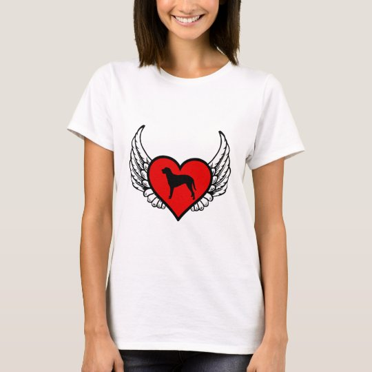 Curly Coated Retriever Winged Heart Love Dogs T-Shirt