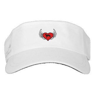 Curly Coated Retriever Winged Heart Love Dogs Visor