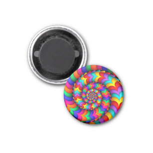 Curly Coil Rainbow Spiral Magnet