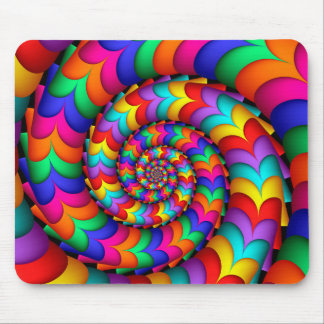 Curly Coil Rainbow Spiral Mousepad