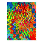 Curly Colours Postcard