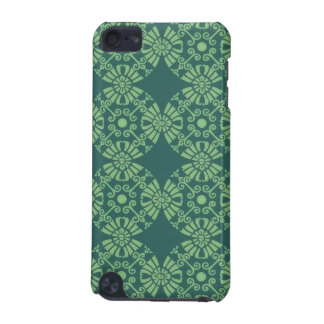 Curly Cute Flower Pattern - Shades of Green iPod Touch (5th Generation) Cases