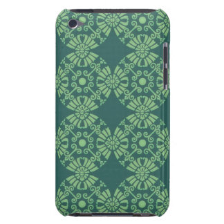 Curly Cute Flower Pattern - Shades of Green iPod Touch Case-Mate Case