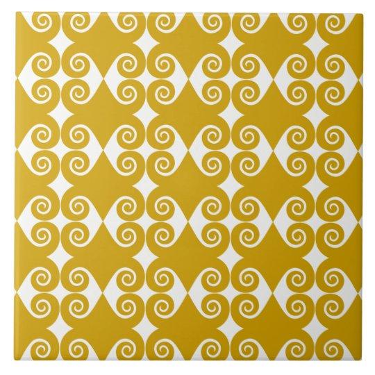 Curly Diamond Pattern Tile