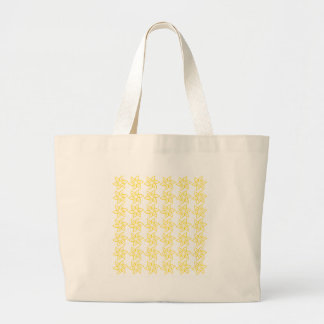 Curly Flower Pattern - Golden Yellow on White Bags