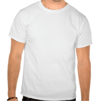 Curly Flower Pattern - White on Amber T-shirts