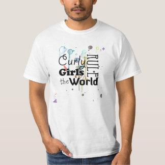 Curly Girls Rule - Paint Splatter T Shirt