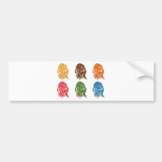 Curly Hair Styles Bumper Sticker