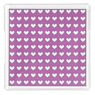 Curly Heart White on Purple Perfume Tray
