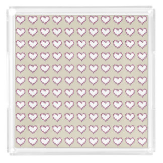 Curly Heart White on Taupe Perfume Tray