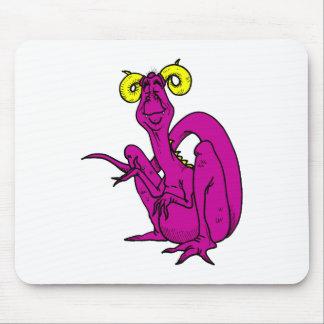 Curly Horn Dragon Magenta Mousepad