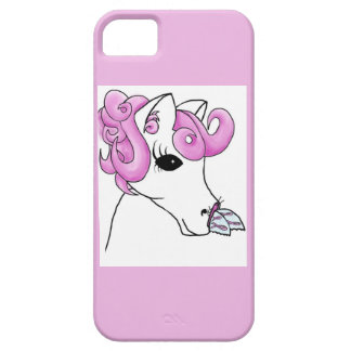 Curly Horse and Breast Cancer Butterfly iPhone 5 Cover