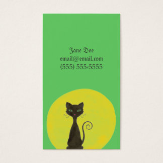 Curly Kitty & Moon Calling Card