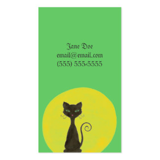 Curly Kitty & Moon Calling Card Pack Of Standard Business Cards