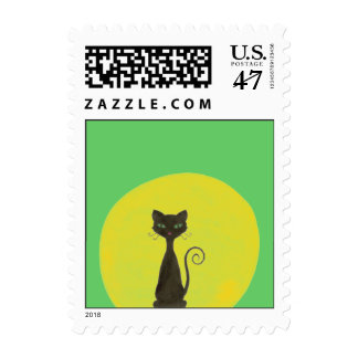 Curly Kitty & Moon Postage