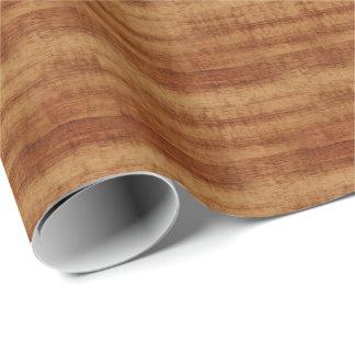 Curly Koa Acacia Wood Grain Look Wrapping Paper