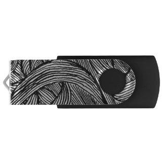 curly LINEs Swivel USB 3.0 Flash Drive