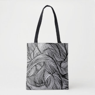 curly LINEs Tote Bag