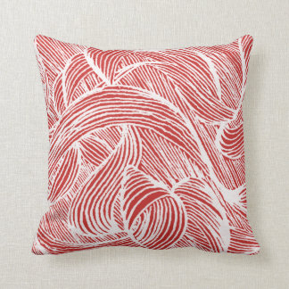 curly LINEs white on talk Throw Pillow