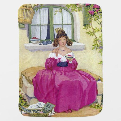 Curly Locks Wilt Thou Be Mine Nursery Rhyme Baby Blankets
