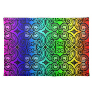Curly N Rainbow Placemat