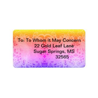 Curly Paint Design Address Label