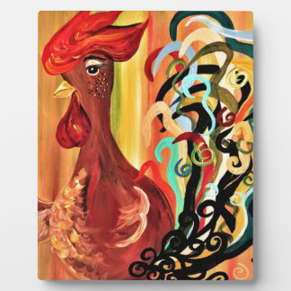 Curly Rooster Plaques
