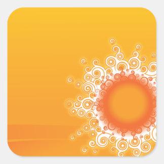 Curly Sunshine Customizable Design Square Sticker
