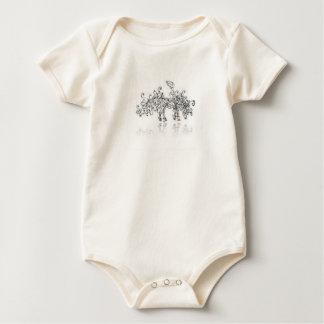 curly swirly pegasus pony baby bodysuit