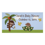 Curly Tails Monkey Baby Shower Poster/Banner