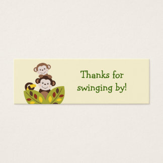 Curly Tails Monkey Jungle Favor Gift Tags Mini Business Card