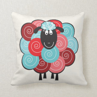 Curly the Sheep Throw Pillow Cushions
