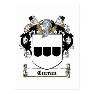 Curran Family Crest Postcard