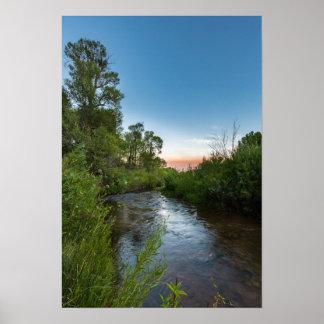 Currant Creek after dusk Poster