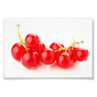 Currants intense red color photograph