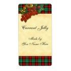 Currants Red Green Holiday Plaid Recipe Labels