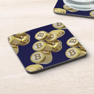 Currency Bitcoin - square Posavasos M5 Coaster