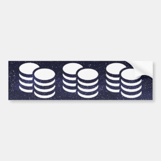 Currency Coins Pictograph Bumper Sticker