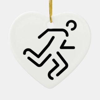 current man running one ceramic heart decoration