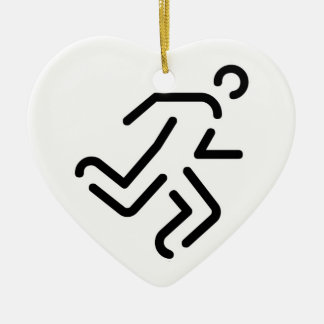 current man running one christmas ornament