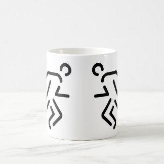current men running men basic white mug