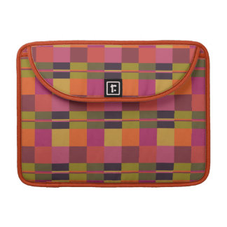 """Current Palette Check Plaid 13"""" MacBook Sleeve Sleeve For MacBooks"""