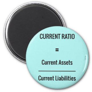 """""""Current Ratio"""" 6 Cm Round Magnet"""