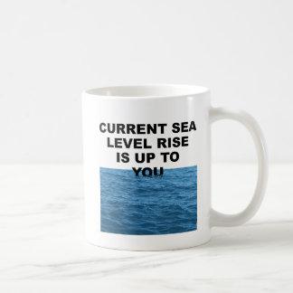 Current sea level rise is up to you basic white mug